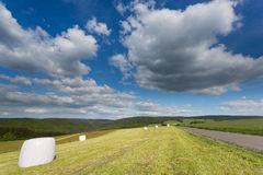 Big cloudscape over a field in Germany. Royalty Free Stock Photography