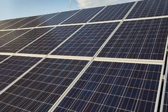 Solar panels on a roof Stock Photography