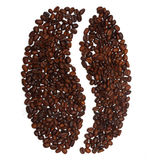 Big coffee bean from coffee beans Stock Photography