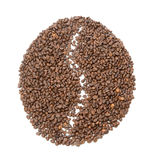Big coffee bean made of Coffee Royalty Free Stock Images