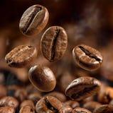 Big coffee beans macro shot Stock Photo