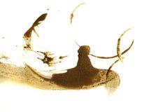 Big coffee splashes Royalty Free Stock Photography