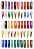 Collection of Finger Nails Cutout Royalty Free Stock Images