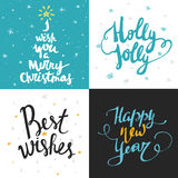 Big collection of bright Christmas or New Year card templates   Stock Photo