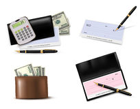 Big collection of business supplies. Royalty Free Stock Image