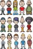 Big collection of cartoon avatar people Stock Photo