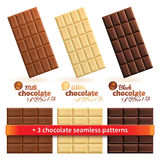 Big collection of chocolate Stock Photos