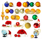 Big collection of Christmas decoration Royalty Free Stock Photo