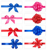 Big collection of color gift bows. Stock Images