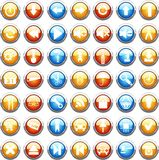 Big collection of color web buttons. Royalty Free Stock Image