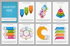 Big collection of colorful infographics. Design elements. Infographics for business presentations or information banner. Royalty Free Stock Photos