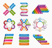 Big collection of colorful infographics. Design elements. Stock Photography