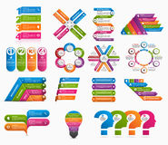 Big collection of colorful infographics. Design elements. Royalty Free Stock Photo