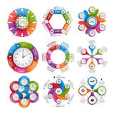 Big collection of colorful infographics. Design elements. Stock Image