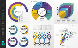 Big collection of colorful infographics. Modern design Royalty Free Stock Images