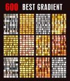 Big collection colorful metallic gradients. stock illustration