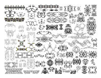 Big collection of decorative elements Royalty Free Stock Photo
