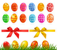 Big collection of different Easter eggs Stock Photo