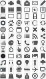 Big collection of different icons. stock illustration