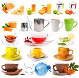 Big collection of drinks Stock Photo