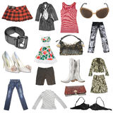 Big collection of females dress Royalty Free Stock Photo