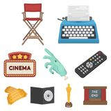 Big collection of films and cinema vector symbol stock illustration. Films and cinema set icons in cartoon style. Big collection of films and cinema vector Royalty Free Stock Images