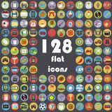 Big collection of flat icons Stock Photos