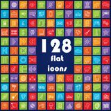 Big collection of flat icons Stock Image