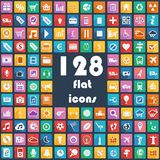 Big collection of flat icons - Transport, Communic Stock Images