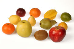 Big collection of  fruits. Healthy food. Big collection of fruits. Healthy food.white Royalty Free Stock Images