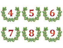 Big collection of hand wreaths. Royalty Free Stock Photography
