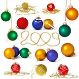 Big collection of holiday spheres Stock Image