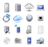 Big collection of IT hosting icons Royalty Free Stock Photography