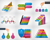 Big collection infographics. Design elements. Infographics for business presentations or information banner. Royalty Free Stock Photo