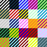 Big collection of linear seamless patterns. Big collection of colorful linear seamless patterns. Vector format added Royalty Free Stock Photography