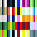 Big collection of linear seamless patterns. Stock Photo