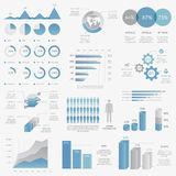 Big collection of modern business infographic vect Stock Photo