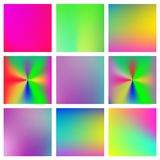 Big collection of modern colorful gradients for mobile app and website design. royalty free illustration