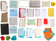 Big collection of notes Royalty Free Stock Photos