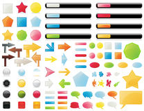 Free Big Collection Of Buttons Royalty Free Stock Photo - 14753465