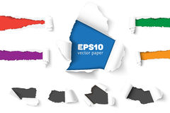 Free Big Collection Of Torn Paper Stock Image - 85756431