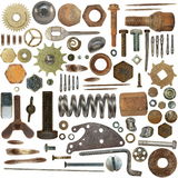 Big collection old  Screw heads, bolts, gears Royalty Free Stock Image
