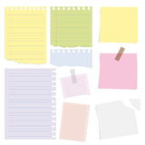 Big collection of paper message set Stock Photos