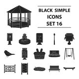 Big collection of park vector symbol stock illustration Royalty Free Stock Image