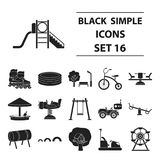 Big collection play garden vector symbol stock illustration. Play garden set icons in black style. Big collection play garden vector symbol stock Royalty Free Stock Image