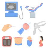 Big collection of pregnancy vector symbol stock illustration. Pregnancy set icons in cartoon style. Big collection of pregnancy vector symbol stock Royalty Free Stock Images