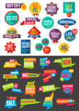 Big collection of Sale and Discount Offers labels Royalty Free Stock Photos