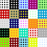 Big collection of seamless patterns made of dots. Collection of various colorful seamless patterns made of dots. Vector format added Stock Photography