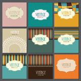 Big Collection Set of Retro Vintage Background Royalty Free Stock Photo
