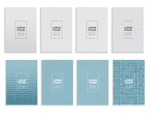Big Collection Set of Simple Minimal Covers Business Template Design. Future Geometric Pattern. Vector Illustration Stock Image